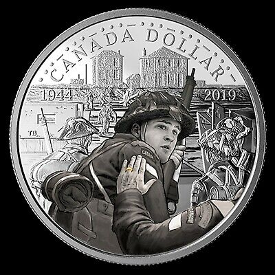 2019 Special Edition Silver Dollar With Color: 75th Anniversary D-Day(Coin Only)