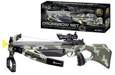 King Sport Super Real Action Crossbow Stealth Set with Arrows & Scope UK
