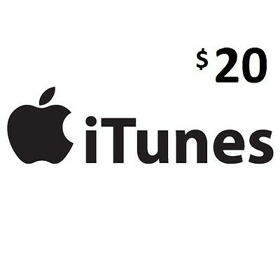 $20 iTunes, Genuine, Australian Store Only, Music,Movies,Books,Apps and More6Nov