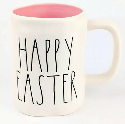 New Rae Dunn Happy Easter 2018 Large Letter LL Pink Mug