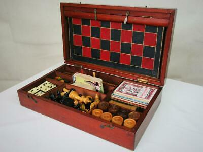 Antique Vintage Compendium Games  Box An Contents