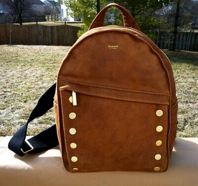 a8cdc4e5fcbed7 NWT $435 Hammitt Los Angeles New Shane Brown Leather Studded Backpack Free  Ship