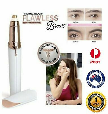 Electric Finishing Touch Flawless EyeBrow Hair Remover Face Brow LED Light AU