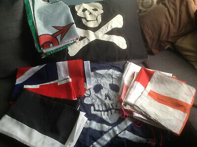 LARP/reenactment  collection of flags (12 various sizes & Types)