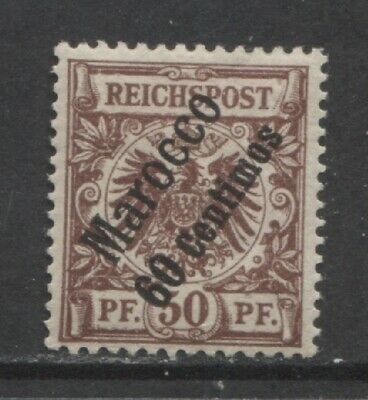 1899 German offices MOROCCO  60 Centimos early issue mint*, $ 38.00