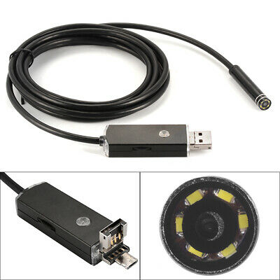 8mm 2M Endoscope Inspection 6LED Snake Camera for Android Phone Tablet BI762