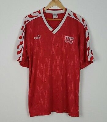 Puma Vtg Retro Trikot West Germany Maillot Maglia Football Shirt Jersey Xl