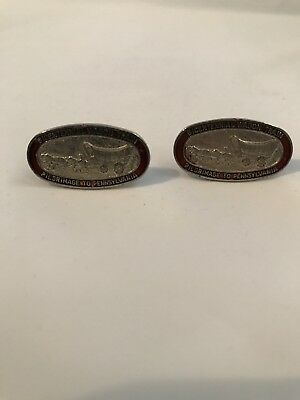 Vintage Bicentennial Wagon Train Pilgrimage To Pennsylvania Cuff Links