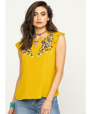 87fba2c719230 RED LABEL BY Panhandle Women s White Embroidered Cold Shoulder Top ...