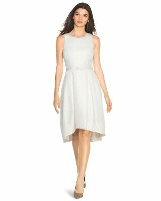 ee8c99cd8b4d6 New Nwt 4 Whbm White House Black Market Fit   Flair High Low Hem Jacquard  Dress