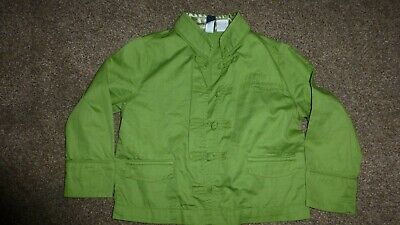 Gap Girls 4 Years Green Military Button Style Soft Jacket With 3 Front Pockets