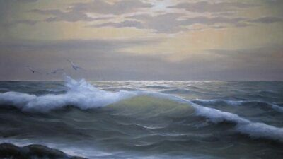 Signed C.o. Schipper Seascape Oil Painting On Canvas