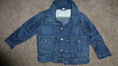 GAP BOYS GIRL UNISEX 3 YEARS DARK BLUE DENIM JEANS JACKET Height 100 CM