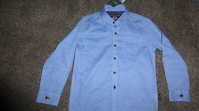 BNWT NEXT BOYS BLUE SHIRT Size 5 YEARS
