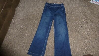 Girls Baby Gap Flare Dark Blue Denim Jeans Trousers Age 5 Years