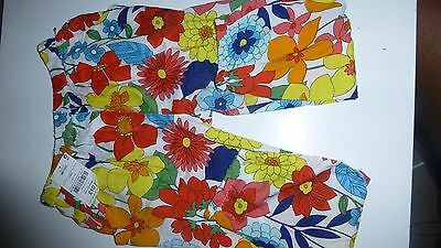 Bnwt Next Girls Multi Colour Bright Floral Trousers 4 -5  Years