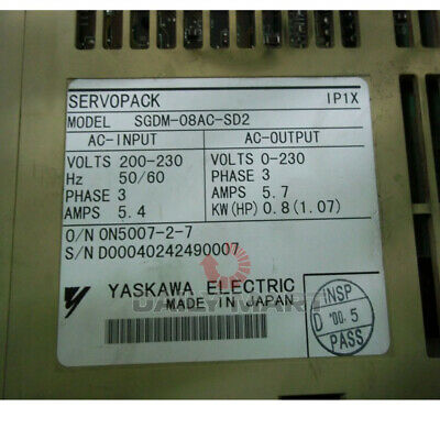 New In Box Yaskawa SGDM-08AC-SD2 Servo Drive