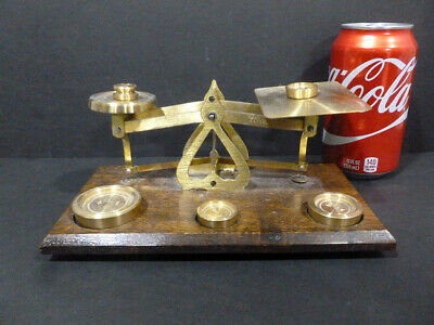 Scale True Vtg Brass Warranted Accurate 5 Pics Weights 4 To 1/2 Oz  Set 7368