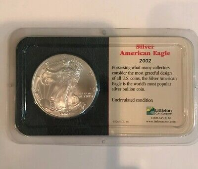 2002 Liberty Walking Silver American Eagle One Dollar Coin