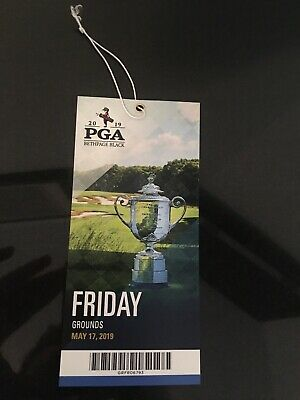 2019 PGA Championship Ticket Friday Grounds Pass - with FREE parking