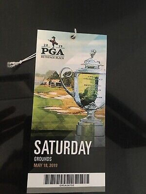 2019 PGA Championship Ticket Saturday Grounds Pass - with FREE parking