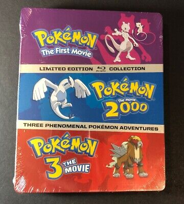 Pokemon 3-Movie Pack  [ Limited STEELBOOK Edition ] (Blu-ray Disc) NEW