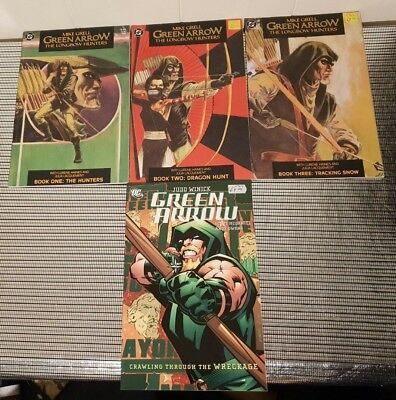 Green Arrow The Longbow Hunters Books 1-3 Plus Crawling Through The Wreckage