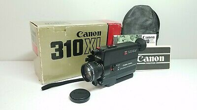 [Exc+++] Canon 310XL Super 8 Movie Camera With Case, Box, Manuals • FILM TESTED