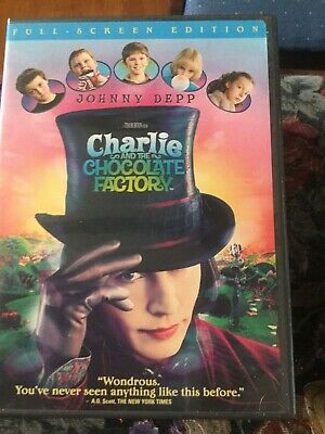 Charlie and the Chocolate Factory (DVD, 2005, Full Frame) Johnny Depp pre-owned