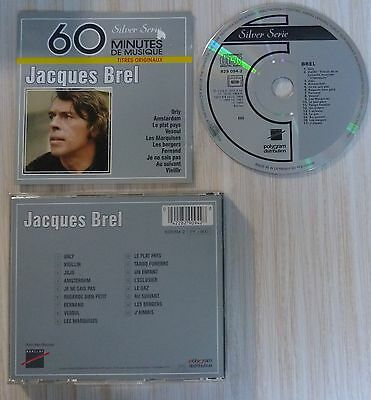 Rare Cd Jacques Brel Le Meilleur Best Of Serie Silver 60 Minutes