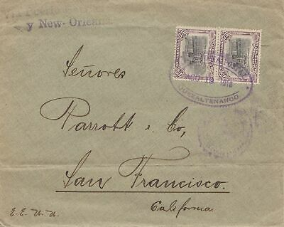 Guatemala: 1918: letter to San Francisco via New Orleans