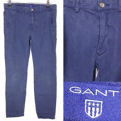GANT Blue Chino Trousers 11 12 Years Boys Straight Slim Leg Smart Casual