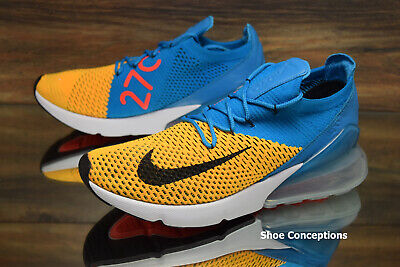 f94990a5c5619 Nike Air Max 270 Flyknit Blue White AO1023-800 Running Shoes Men s Multi  Size