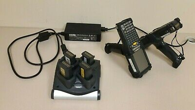 2 Motorola Symbol MC9060 Handheld Barcode Scanners w/ Spare Batteries & Charger