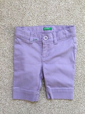United Colours Of Benetton Baby Girls Lilac Trousers Age 9-12 Months