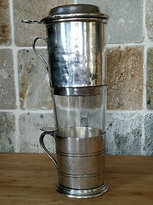 Antique Silver Plate Filter Drip Coffee Maker