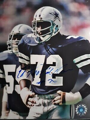 Ed Too Tall Jones Hand Signed 8x10 Autographed Photo w COA