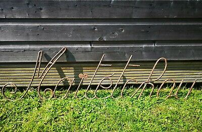 Vintage French architectural iron Metal advertising decorative shop sign display