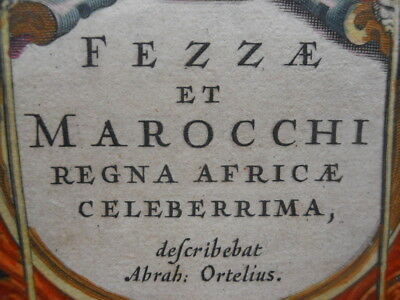 Map by W J Blaeu & A Ortelius, Fezzae & Marocchi, Morocco, Antique Original 1643
