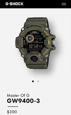 New!! Casio G-Shock Rangeman Mens Watch - Tough Water Resistant - GW-9400-3CR