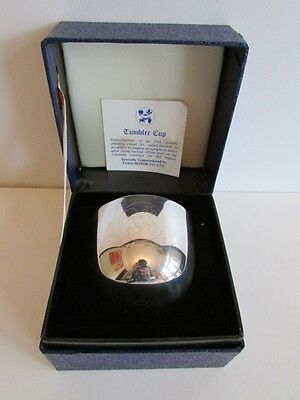 Boxed Silver Plated Ford Tumbler Cup Excellent Condition