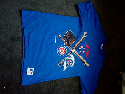 Chicago Cubs Cotton T-shirt size XL by Nutmeg