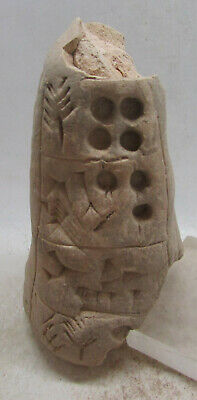 Extremely Rare Ancient Near Eastern Terracotta Cone With Early Form Of Writing