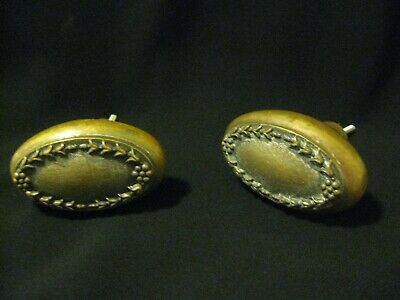 ANTIQUE OVAL BRASS DOOR KNOBS - Original