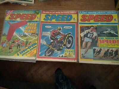 3 x 1980SPEED COMICS