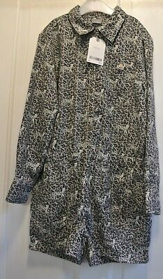 New Next girls all in one long sleeve shorts outfit Grey 7 years