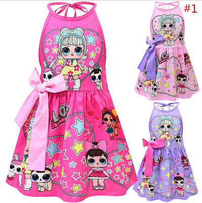 New Girls Lol Surprise Doll Fancy Dress Summer Backless Party Princess Dress