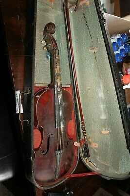 Antique MEDIO FINO 4/4 VIOLIN w/ Original COFFIN CASE &  TOURTE Bow P/R