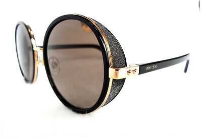 92a51d6ca3fc JIMMY CHOO Women s Sunglasses ANDIE S Rose Gold Black J7Q130 MADE IN ITALY -