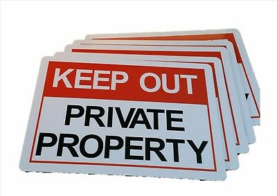 KEEP OUT PRIVATE PROPERTY sign Aluminium outdoor 315mm x 220mm